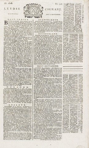 Leydse Courant 1818-09-09