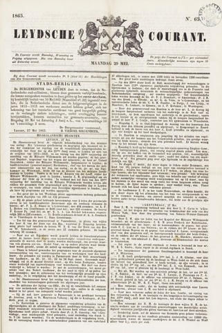 Leydse Courant 1865-05-29