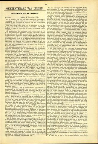 Handelingen van de Raad 1920-11-27