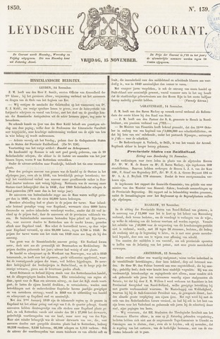 Leydse Courant 1850-11-15