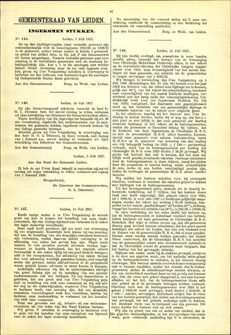 Handelingen van de Raad 1927-07-07
