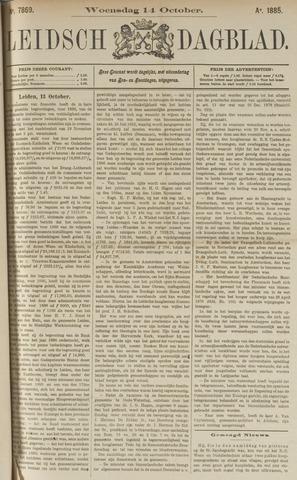 Leidsch Dagblad 1885-10-14