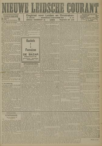 Nieuwe Leidsche Courant 1921-11-03