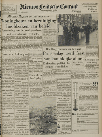 Nieuwe Leidsche Courant 1957-09-17