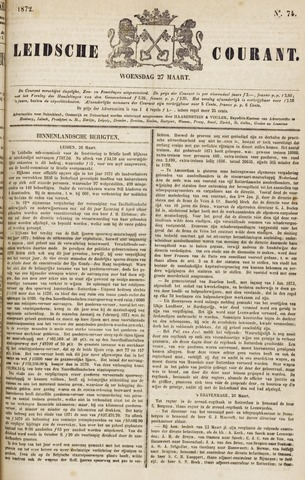 Leydse Courant 1872-03-27