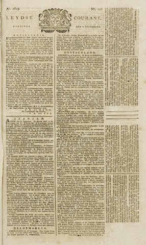 Leydse Courant 1819-09-08