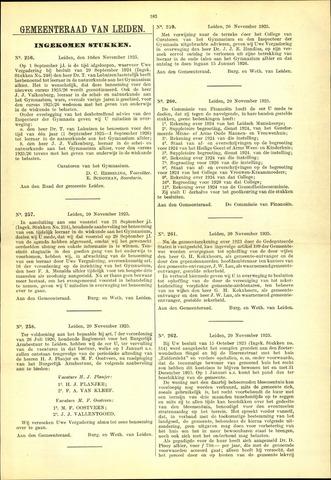Handelingen van de Raad 1925-11-10