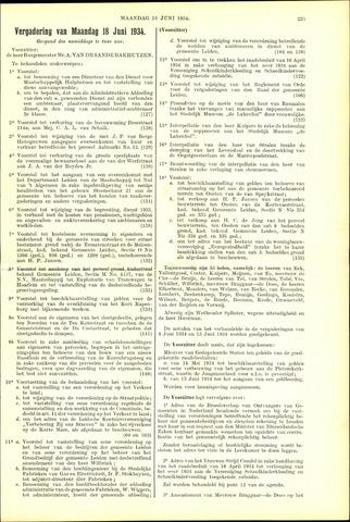 Handelingen van de Raad 1934-06-18