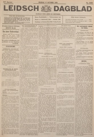 Leidsch Dagblad 1930-10-17