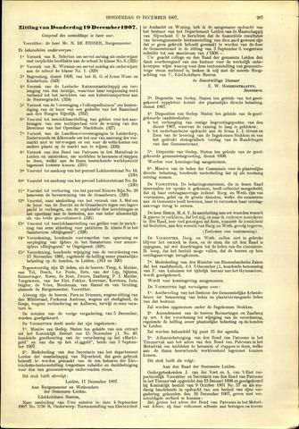 Handelingen van de Raad 1907-12-19