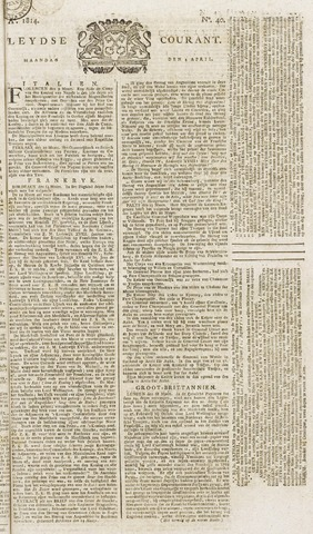 Leydse Courant 1814-04-04