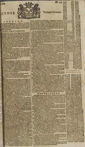 Leydse Courant 1770-11-23
