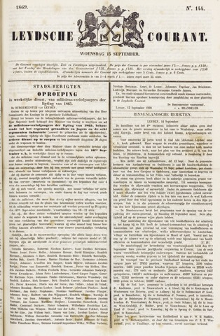 Leydse Courant 1869-09-15
