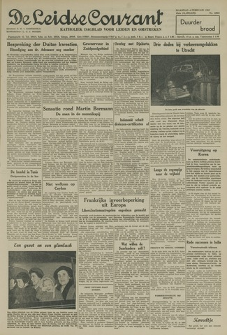 Leidse Courant 1952-02-04