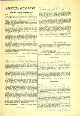 Handelingen van de Raad 1932-01-06