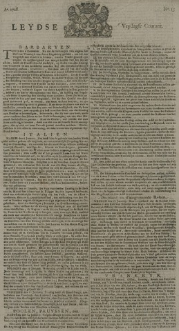 Leydse Courant 1728-01-30