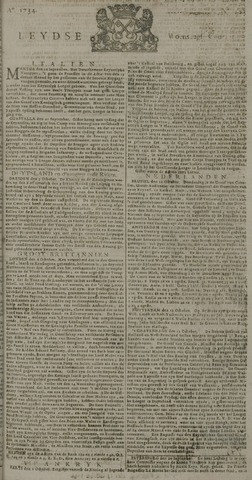 Leydse Courant 1734-10-13