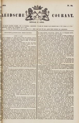 Leydse Courant 1884-04-22