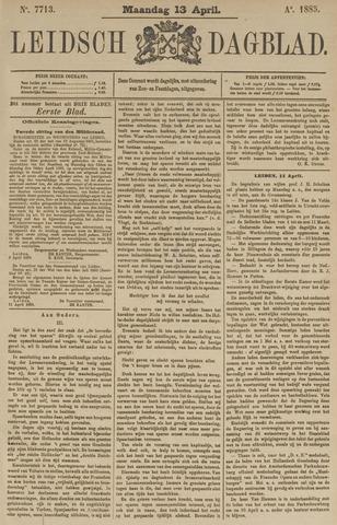 Leidsch Dagblad 1885-04-13