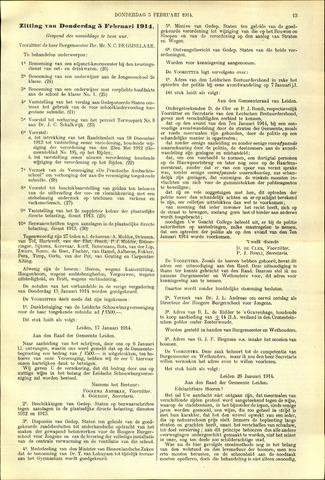 Handelingen van de Raad 1914-02-05