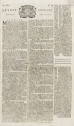 Leydse Courant 1814-08-08