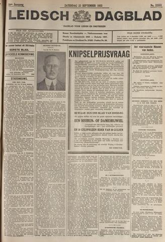 Leidsch Dagblad 1933-09-23