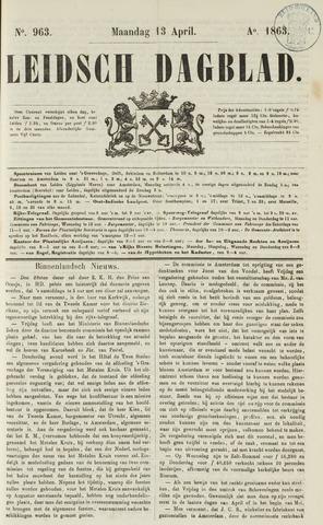 Leidsch Dagblad 1863-04-13