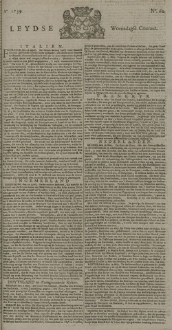 Leydse Courant 1739-05-20