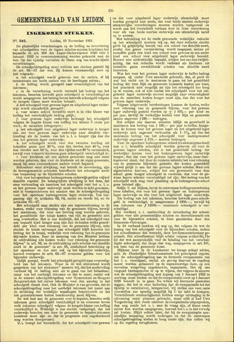Handelingen van de Raad 1921-11-19