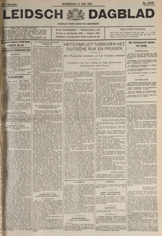 Leidsch Dagblad 1932-07-21