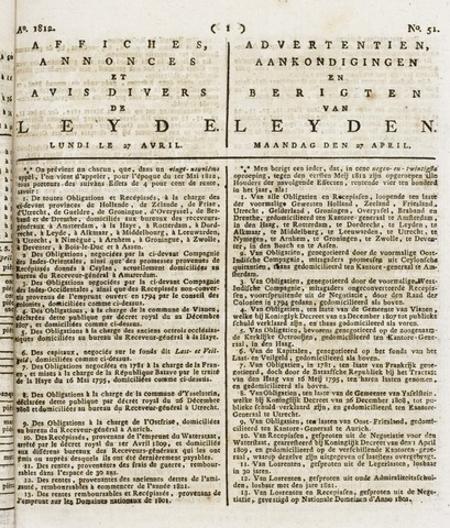 Leydse Courant 1812-04-27