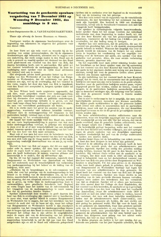Handelingen van de Raad 1931-12-09