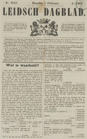 Leidsch Dagblad 1867-02-04