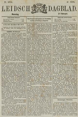 Leidsch Dagblad 1876-02-21