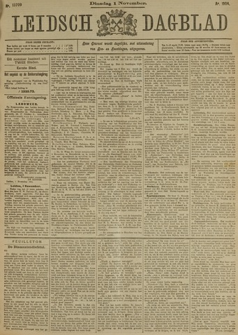 Leidsch Dagblad 1904-11-01