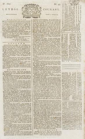 Leydse Courant 1817-04-09