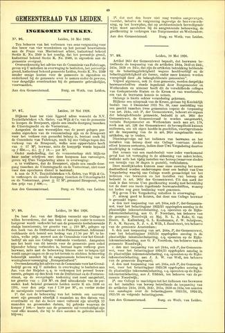 Handelingen van de Raad 1926-05-10