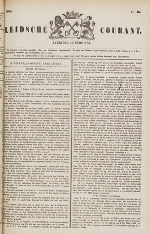 Leydse Courant 1884-02-16