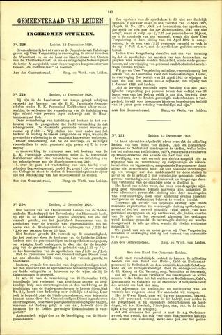 Handelingen van de Raad 1928-12-12
