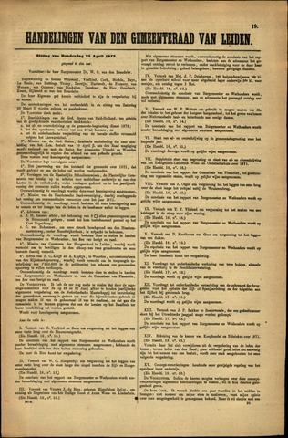 Handelingen van de Raad 1872-04-25