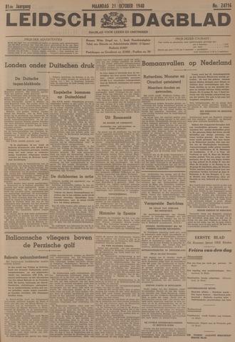 Leidsch Dagblad 1940-10-21
