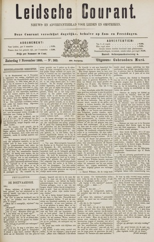 Leydse Courant 1885-11-07