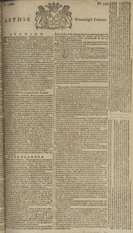 Leydse Courant 1760-10-22