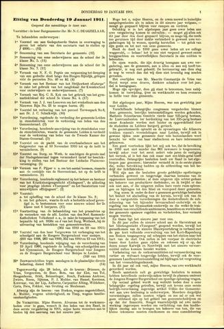 Handelingen van de Raad 1911-01-19
