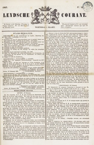Leydse Courant 1865-03-01