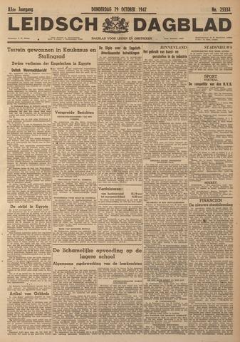 Leidsch Dagblad 1942-10-29