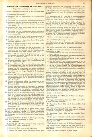 Handelingen van de Raad 1917-07-26