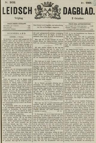 Leidsch Dagblad 1868-10-02