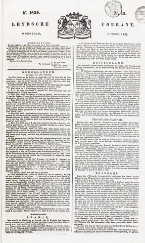 Leydse Courant 1839-02-06