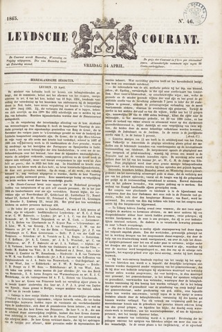 Leydse Courant 1865-04-14